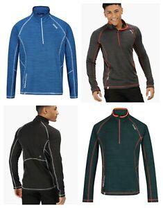 Regatta Yonder Quick Dry Sports Outdoors Half Zip Mens Fleece