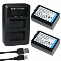Battery Or LCD DUAL Charger for Sony NP-FW50 BC-VW1 ILCE-6400 Alpha a6400 A6100