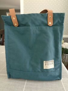FEED Projects Canvas Market Tote, Sea Blue