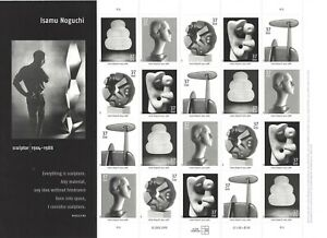 USA Scott 3807 Isamu Noguchi MNH Postage Stamp Sheet Sculpture