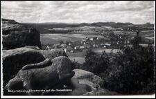 DDR AK 1957 Stempel Reinhardtsdorf Bad Schandau auf AK Löwenwache Kaiserkrone