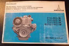 Deutz Motoren F3 - 6 L 912 (W) Ersatzteil-Katalog