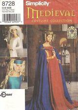 Simplicity 8728 OOP Medieval Hat Veil Cloak Pattern