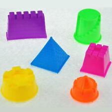 6xSet Portable Castle Sand Clay Mold Building Pyramid Sand Castle Beach Sand Toy
