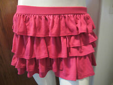 SWEET LOVE PINK FUSHIA RUFFLE MINI SKIRT FROM HOT TOPIC SIZE MEDIUM