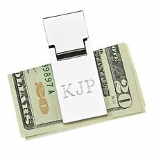 Money Clip Spring Loaded - Free Engraving-Name or Initals- Great Gift!