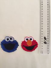 DIY ELMO and Cookie Monster Embroidered Patch - Iron-on Transfer Sew On