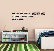 To Go To Sleep I Count Decal WALL STICKER Lettering Art Quote Kids Tractor SQ106
