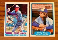 1982 Danny Ainge Topps #125 and Fleer #608 - Blue Jays