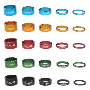 "KCNC HOLLOW 1 1/8"" HEADSET SPACER  3 5 10 14 20MM cycling  black red blue green"