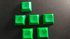 Brand New CherryMX GRANITE Novelties PBT Dye-Sublimated WASD+BONUS Green Caps
