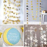 5/10String Bunting Garland Glitter Twinkle Star Wedding Celebration Party Decor