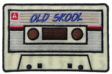 Old Skool Radio Cassette Patch Embroidered Iron On Biker Skater 80's Hip Hop