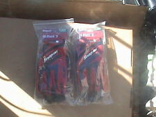 Snap on 2 pairs of M Pact 2 heavy duty red work gloves XL GLOVE302RXL