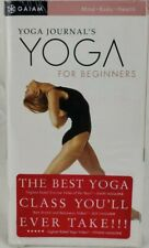 Yoga Journal's Yoga for Beginners (VHS, 1997, Includes 58-Page Booklet)  F7