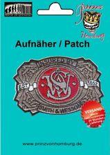 S&W -  Patch Aufnäher SMITH & WESSON Revolver / Gun 100% gestickt