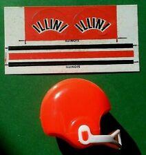 1970 NCAA Vintage ILLINOIS ILLINI mini gumball football helmet decal college old