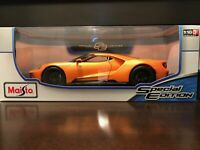 NEW COLOR Maisto 1:18 Scale Special Edition Diecast Model- 2017 Ford GT (Orange)