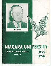 1955/56 Niagara University vs Buffalo State College Basketball Program FAIR/GOOD