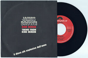 """7"""" JAMES BROWN King heroin (Polydor 72 ITALY) funk soul r&b unique cover MINT!"""