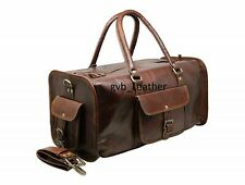 Vintage Leather superior quality Luggage Genuine Duffel Overnight Weekend Bag