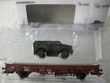 MÄRKLIN 46952  Set 4MFOR Militär Rungenwagen Kbs mit Panzer DINGO NEU