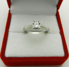 Engagement Platinum 950 Princess Cut 0.35 ct Solitaire Diamond Ring