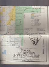Norris Recreation Access Guide Map Dillon District Montana 1968