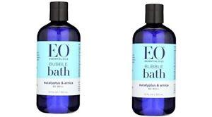Lot of 2 EO Be Well Bubble Bath Eucalyptus & Arnica ~ 12 oz each