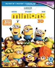Minions in 3D  with Lenticular Slip Cover + 3 New Mini Games ( 3D + 2D Blu-ray)