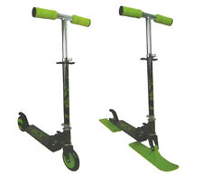 2 en 1 Scooter Luge Roller 120 mm Rouleaux Scooter Trotinette Abec 5 Charbon
