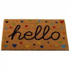 Hearty Hello Decoir Mat 75 x 45cm Door Hard Wearing Indoor Outdoor Non Slip