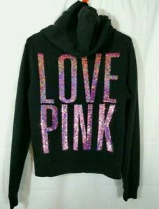 Victoria's Secret LOVE PINK Sequin Bling Hoodie  RARE