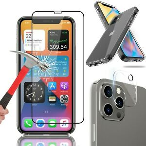 For iPhone 12 Pro Max 12 Mini Cover Tempered Glass Screen Camera Lens Protector