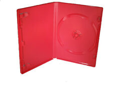DVD Case -  Red Empty Clear Front Sleeve, Blank For CD's DVD's or Blu-ray Disks,