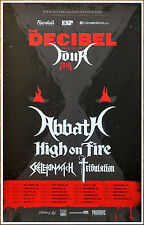ABBATH | HIGH ON FIRE 2016 Ltd Ed RARE Decibel Tour Poster +FREE Metal Poster!