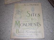 1902.sites et monuments Basse Normandie.Calvados Manche Orne