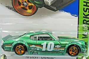 HOT WHEELS VHTF 2015 WORKSHOP SERIES 70 CHEVY CHEVELLE SS KMART COLOR