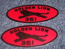 1961 1962 CHRYSLER GOLDEN LION 361 VALVE COVER DECALS