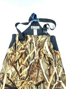 Columbia Mens Khaki Shadow Grass Camo Sportswear Omni Tech Bibs Pants Size M