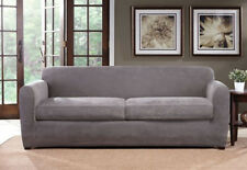 Ultimate Stretch Chenille Slipcover by sure fit Loveseat size, 2 cushion Gray