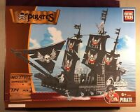 Bric Tek Brictek Pirates Revenants Black Pirate Ship 714 Pcs 27903 Brand New