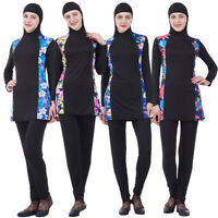 Full Cover Muslim Women Swimwear Modest Arab Islamic Beachwear Burkini Swimsuit