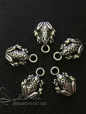 PJ276 20pcs Tibetan Silver Charms Cute little frog Accessories Wholesale