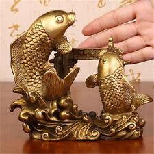 2 Large Raw Brass Fish Stamping RAT5996