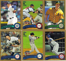 """2011  TOPPS """"GOLD""""    UPDATE SERIES  """"PICK YOUR OWN""""   10 CARD LOT"""