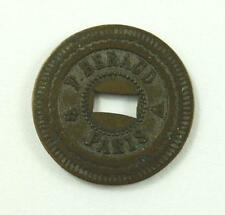 P. Beraud - Paris - 20 Centimes A. Consommer Slot Machine / Wall Game Token 1905