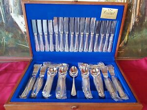 Vintage silver plated cutlery set for 8 person as new condition (57 pieces)