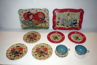 Antique Ohio Art Collection CHILDRENS - Childs TIN LITHO TOY DISHES