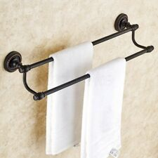 Oil Rubbed Bronze Wall Mounted Double Towel Bar Holder Bathroom Accessories